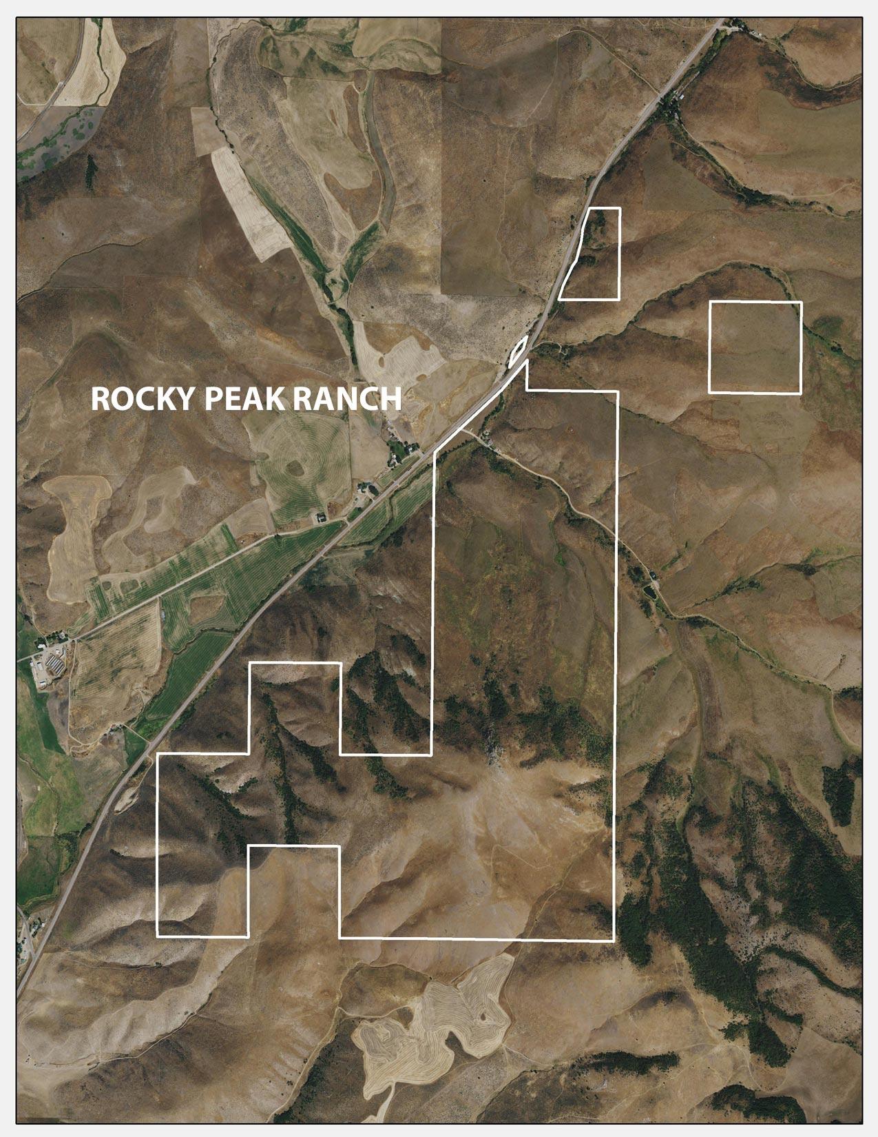 Rocky Peak Ranch - Aerial Map - Idaho