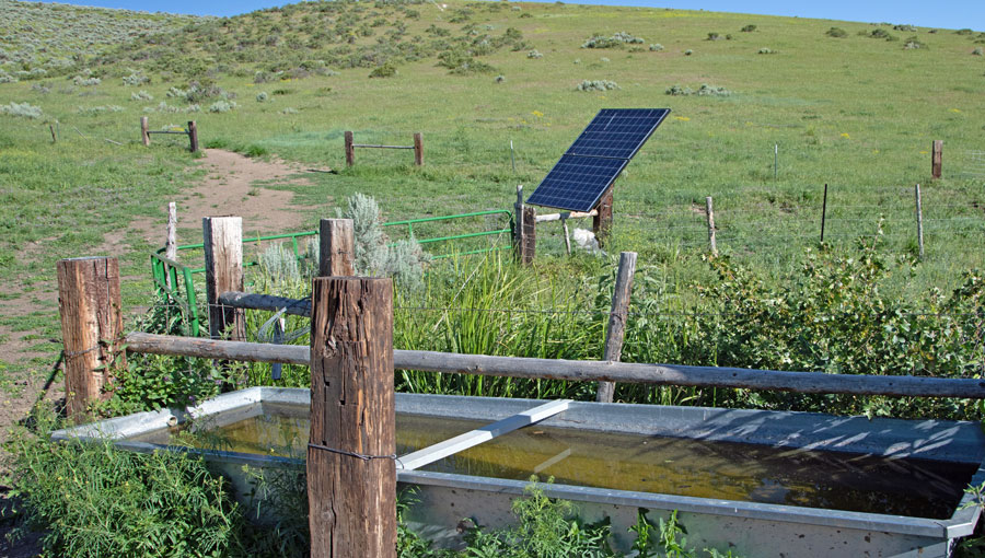 Red Rock Ranch Home Place Livestock Well and Solar Panel